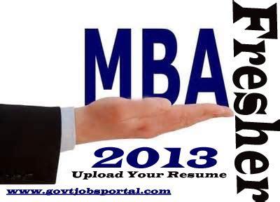 Sample fresher resume for mba